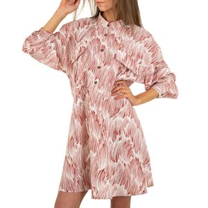 Ital-Design Damen Kleider Blusenkleider Rot Gr.m/L