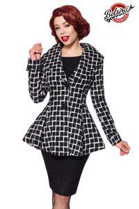 Belsira Premium Blazer-Jacke, Farbe: schwarz/weiß, Größe: 4XL