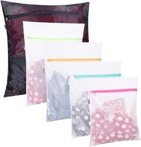 Wäschenetz 5 Stück Wäschesack mit Reißverschluss Wäschetasche Set Wäschebeutel perfekt für Waschmaschine