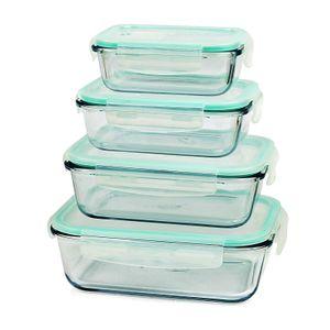 Frischhaltedosen Glas Set Gefrierdosen Vorrats Dosen Box Brotdose Mikrowelle 8 teilig