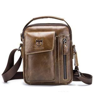 Herren Echtleder Business Messenger Bag Vintage Crossbody Reisetaschen