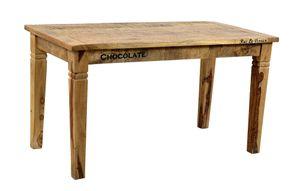 SIT Möbel Esstisch 140 x 70 cm   Plattenstärke 20 mm   Mango-Holz natur antik   B 140 x T 70 x H 76 cm   01914-04   Serie RUSTIC