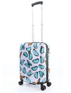 Saxoline Kinder Handgepäck Koffer Trolley Schmetterling Blau Bunt 55 cm Bowatex