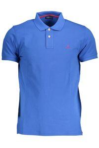 Gant Herren Poloshirt Contrast Collar Pique Rugger, Größe:L, Farbe:Blau(422)