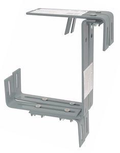 Halter schwere Ausführung für Balkonkasten, Farbe:betonfarbe hell