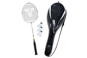 Talbot Torro Badminton-Starterset Isoforce 311.6, 100% Graphit, One Piece Bauweise, 3er Dose Tech 350 Bälle