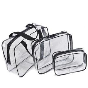 Transparente Kosmetiktasche und Box Transparente Plastiktüte PVC Wasserdicht XLG201229101
