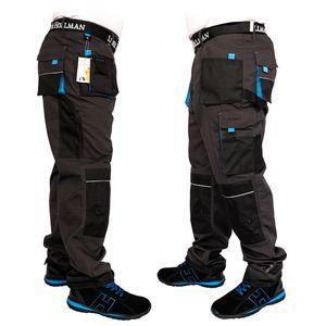 Arbeitshose Bundhose Arbeitskleidung Schutzkleidung Grau Schwarz Blau Gr.56