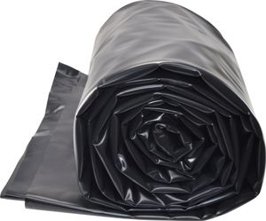 TEICHWERKplan Teichfolie PVC 2 x 2 m schwarz 0,5mm Teich Folie 4 m² Gartenteichfolie Gartenteich Koiteich Bachlauf Plane Pond
