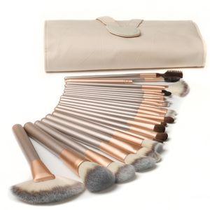 Pinselset Make-Up Von Luvia, Schminkpinsel Inkl. Edlem Pinselhalter & Satin Tasche Für Kosmetikpinsel
