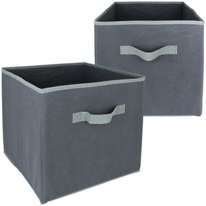 Faltbox 30x30x30cm 2er Set Aufbewahrungsbox Kallax Box Ordnungsbox Aufbewahrungskorb Faltboxenset Aufbewahrung Boxen