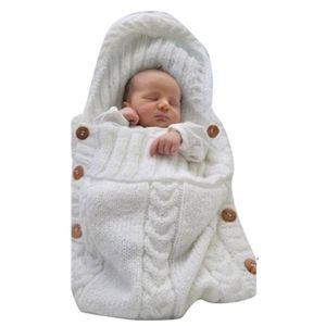 Infant Baby weiß Decke gestrickt Häkeln Warm Swaddle Wrap Schlafsack