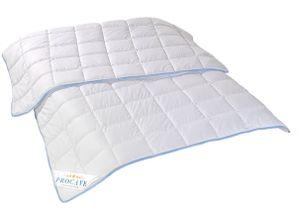 PROCAVE TopCool Qualitäts-Bettdecke für den Sommer 135x200 cm - kochfeste Sommerbettdecke, kochfeste Steppdecke, Leichtbett atmungsaktiv & wärmeausgleichend