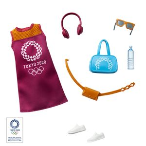 Barbie Fashions Komplettes Outfit & Accessoires (Licensed): Olympische Sommerspiele Tokyo 2020
