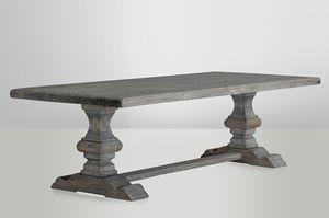 Casa Padrino Landhaus Esstisch Eiche Rustic Grey - Barock Stil Tisch Eiche Massiv, Tisch Abmessungen:180 x 90 cm