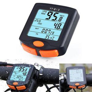 Fahrrad Radfahren Fahrrad Computer Kilometerzaehler Hintergrundbeleuchtung Kabelgebundene LCD-Anzeige Tachometer