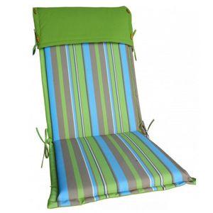 Hochlehner-Auflage STOCKHOLM grün-braun Auflage Stuhlauflage Polster Kissen Stuhl