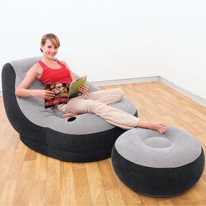 INTEX Sessel Lounge Ottoman 130x99x76cm Grau 68564NP