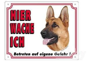 Warntafel Deutscher Schäferhund braun