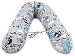 Schwangerschaftskissen [Zebra] Stillkissen Lagerungskissen Seitenschläferkissen XL 170cm
