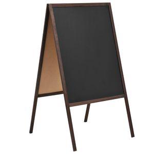 vidaXL Tafel Kundenstopper Doppelseitig Zedernholz Freistehend 60×80cm