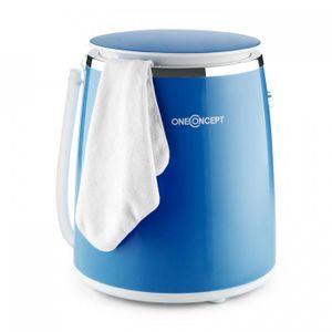 oneConcept Ecowash-Pico Mini-Waschmaschine Campingwaschmaschne Schleuderfunktion 3,5 kg 380W IPX4 blau