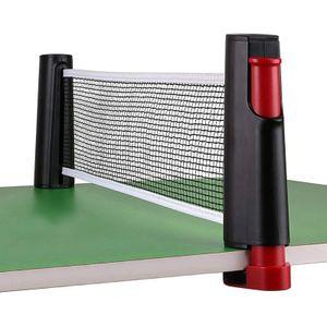 Tischtennis Netze, Justierbarer Einziehbares Netz Ping Pong Ersatznetz, - Einstellbare Länge 180(max)