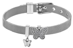 Damen Armband Edelstahl Lotus Style LS2077-2/2 Butterflyanhänger Strass