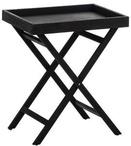 CLP Beistelltisch Simone mit Tablett Holz, Farbe:schwarz