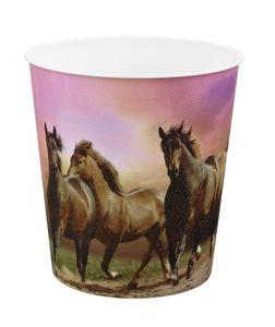 Idena Papierkorb aus PP 9 Liter, Pferde