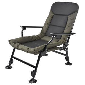 Karpfenstuhl Angelstuhl Anglerstuhl Campingstuhl Falten Stuhl mit Armlehnen bis 180kg,0-180 °Rückwinkel