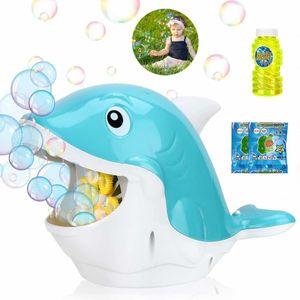 Seifenblasenmaschine für Kinder, automatisches seifenblasen Maschinen mit Seifenlösung für die Outdoor Indoor Geschenk Spiele (Wal)