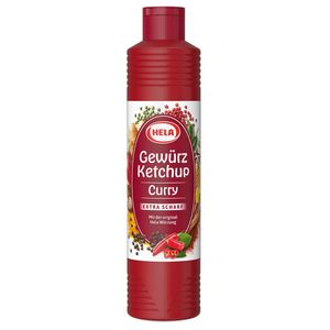 Hela Curry Gewürzketchup extra scharf für alle Schärfeliebhaber 800ml