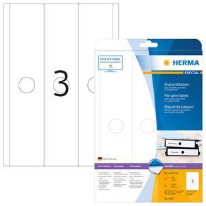 Hängeordneretiketten A4 weiß 63x297 mm Papier matt blickdicht 75 St.