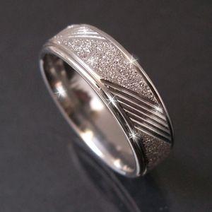 Ring Edelstahl Fingerring Glitzer 17mm Edelstahlring Damen R522-17