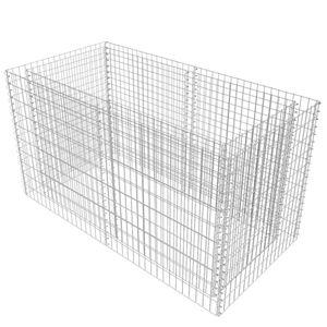 vidaXL Gabionen-Hochbeet Stahl 180×90×100 cm Silbern