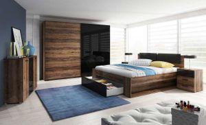 Schlafzimmer Set 5 tlg DANTOS inkl.Doppelbett 180cm und Schrank 270cm