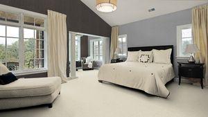 Teppichboden, Auslegware, Meterware, 500 cm x 600 cm, creme, Blauer Engel, Kurzflor