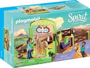 "Playmobil 9479 Spirit Pferdebox ""Pru & Chica Linda"""