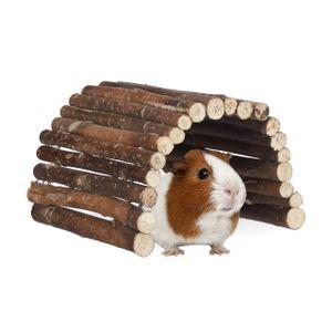 relaxdays Nagerbrücke Holz für Kaninchen