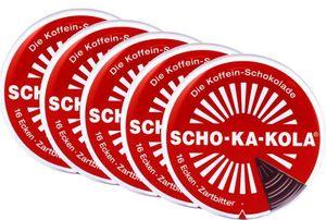 5 x Scho-Ka-Kola Zartbitter 100g Dose