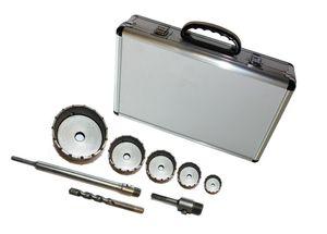 8 tlg. Bohrkronen Set SDS Plus Bohrkrone Dosenbohrer Loch 30-110mm Bohrer