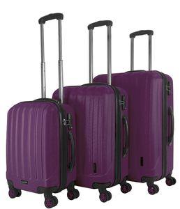 Packenger Velvet Premium Koffer 3er-Set, Lila