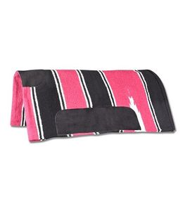 WALDHAUSEN Navajo Decke, pink/schwarz, pink/schwarz, Warmblut