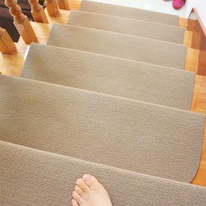 WYCTIN 15*Stufenmatten Treppenmatten Treppenteppich Treppenschutz Beige