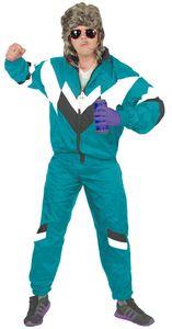 80er Jahre Trainingsanzug Kostüm für Herren, Größe:XL