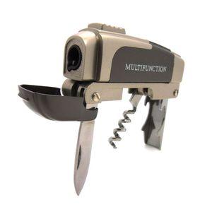 Feuerzeug multifunktional mit Korkenzieher Messer Deckelöffner