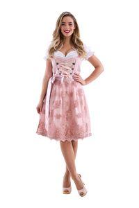 Dirndl de luxe rosa / rosegold, Groesse:38
