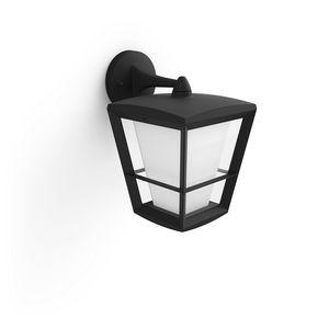 Philips Hue White & Color Ambiance Econic - Wandleuchte, schwarz - Laternenform hängend