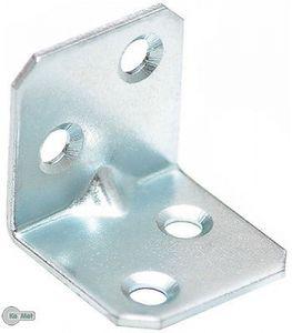 8 Winkel Winkelverbinder mit Sicke 25x25x25x1,5 mm